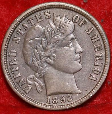 1892-O New Orleans Mint Silver Barber Dime Free Shipping