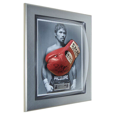 signiert Manny Pacquiao Cleto Reyes rot Pro Boxhandschuh gerahmt - Pacman