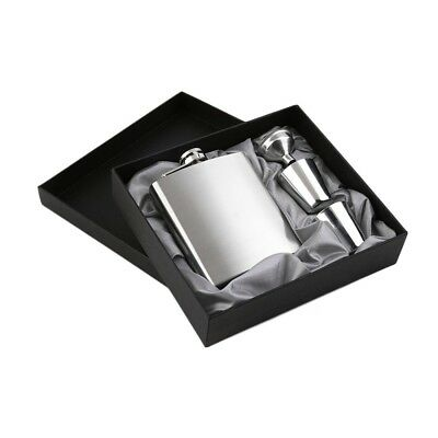 7oz Stainless Steel Pocket Hip Flask Funnel Cups Set Drink Bottle Gift New FA