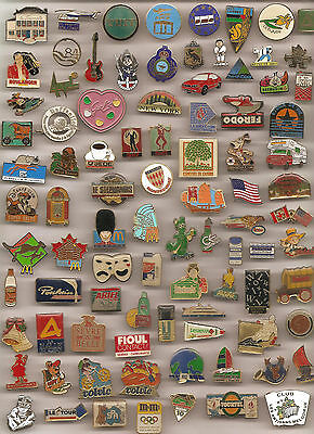 LOT DE 90 PIN'S DIVERS SANS ATTACHES Voir Scan (REF 005)
