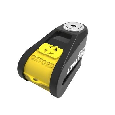 Oxford Alpha XA14 Alarm Disc Lock(14mm pin) Black/Yellow - LK278