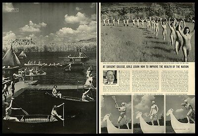 1940 Sargent Girls College New Hampshire 18 photo vintage print article