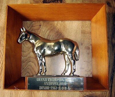 Horse Trophy Gladys Brown Plaque 1961 AQHA Grand Champion Mare