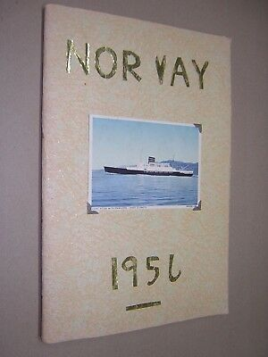 SCRAPBOOK, NORWEGIAN TOUR HOLIDAY. NORWAY 1956. PHOTO'S, POSTCARDS, TICKETS etc.