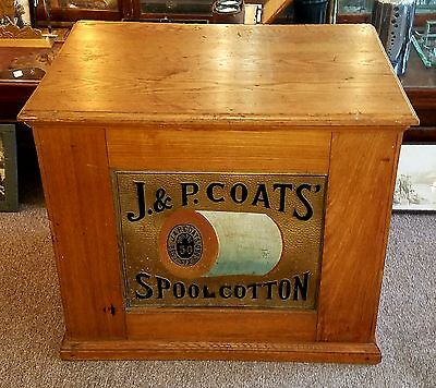 Antique J. & P. Coats' Spool Cotton Cabinet Store Display-6-Drawer-General Store