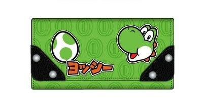 Yoshi Super Mario Brothers Fold Wallet Juniors Flap Fold Green Black Phone Pouch