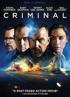 CRIMINAL (DVD, 2016) New / Factory Sealed / Free Shipping