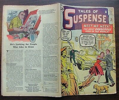 Tales of Suspense No 36 49 Vista Pub. 1962-1963 Marvel Comics
