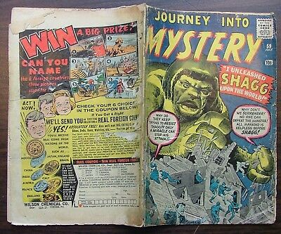 Journey into Mystery No 59 80 88 97 Atlas Pub. 1960-1963 Marvel Comics Shagg