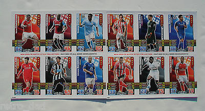 Sport Football MATCH ATTAX 2015/16 Promo SET TRADING GAME CARDS SHEETS Card LOT