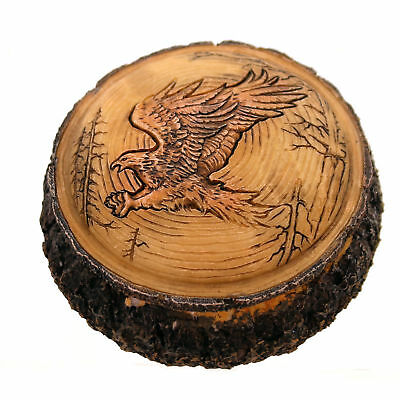 Animal CARVED EAGLE BOX Polyresin Majestic Father's Day PWC133
