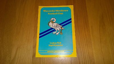 1980-81 Wycombe Wanderers v Bournemouth - FA Cup