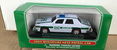 Hess Miniature Police Car 2003 New in Box
