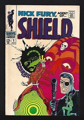Nick Fury Agent Of Shield #5  Very Good / Fine 5.0!  Jim Steranko Art!