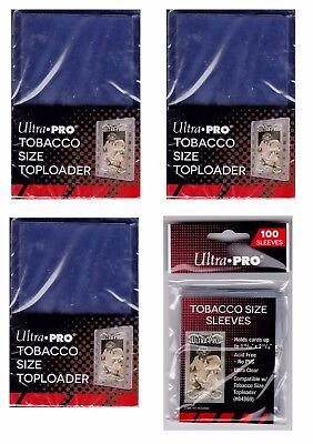 Ultra Pro Tobacco Top Loaders lot of 75 w/ 100 sleeves NEW Toploaders