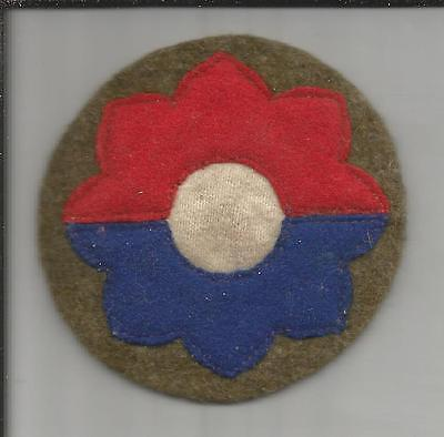 WW 2 US Army 9th Infantry Division Wool Patch Inv# S276