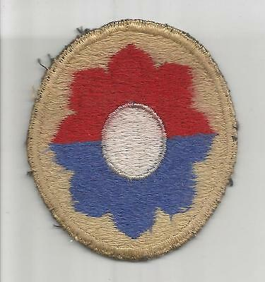 British Made WW 2 US Army 9th Infantry Division Black Back Patch Inv# JR558