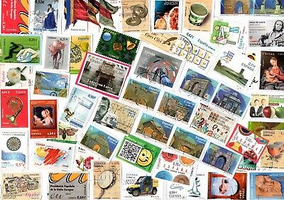 A Lovely Mix Of Mostly Recent Euro Commemorative Stamps From Spain