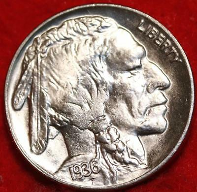 Uncirculated 1936 Philadelphia Mint  Buffalo Nickel Free Shipping