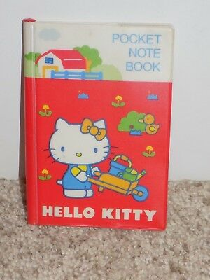 Vintage Hello Kitty Pocket Note Book Sanrio 1976 Made in Japan