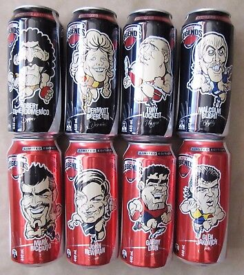 2009 Ltd Edition Coca Cola AFL Player Cans:  COMPLETE SET OF 8  +  (Free Post !)