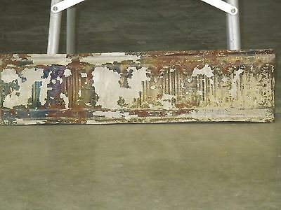 "Old Antique ( Metal )  tin ceiling tile 24"" x 6"" cornice"