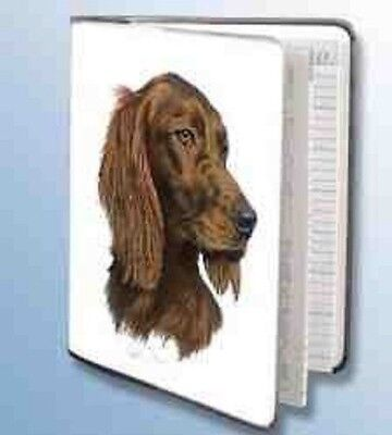 Retired IRISH SETTER Softcover Address Book artwork by Robert May
