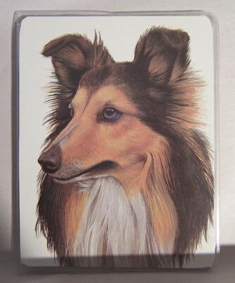 Retired SHETLAND SHEEPDOG Softcover Address Book art by Robert May
