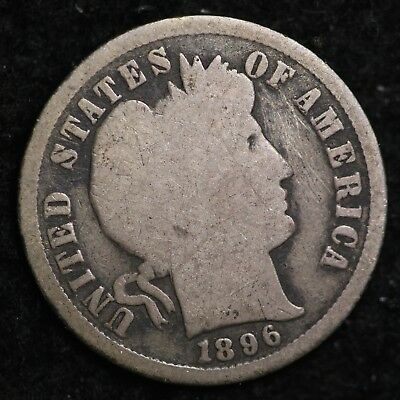 1896-S Barber Dime CHOICE G FREE SHIPPING E280 UFT