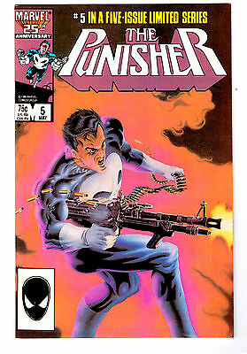 THE PUNISHER #5 in VF+ a 1986  Marvel comic #5 in the five-issue limited series