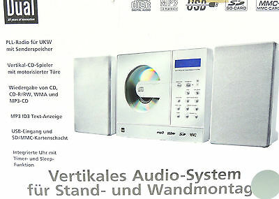 Vertical Audio System Dual 150 Micro Hi-Fi System Wall Mount CD USB SD White