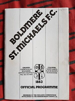 Boldmere st michaels v Tamworth fa cup 1st Qualifying Round 16th Sept 1989