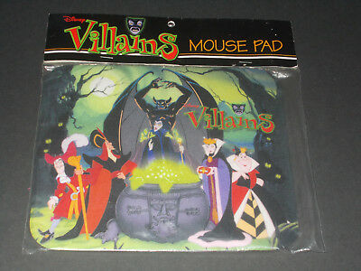 NIP Disney Villains Mouse Pad Mousepad Maleficent Evil Queen Captain Hook