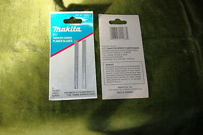 Makita 3 1/4 Tungsten Carbide Planer Blades #793322-2 New Old Stock Germany