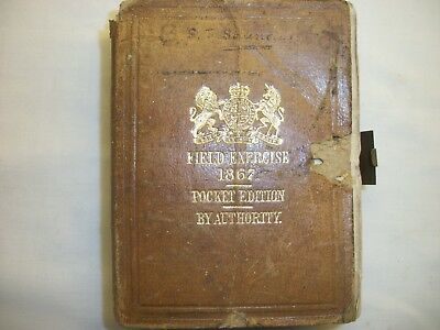 Victorian Military Book Leather Bound Field Exercise 1867 Pocket Edition
