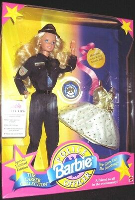 Police Officer Barbie Doll (The Career Collection)(New)