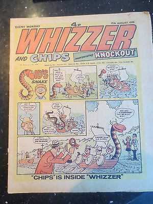 Whizzer and Chips Vintage Old UK Paper COMIC 17 August 1974 Birthday Gift