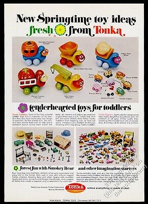 1972 Tonka toys toy truck car Smokey Bear forest set Gigglers Toddlers photo ad