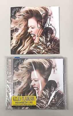 Kelly Clarkson Signed Meaning of Life CD Album Booklet AUTO Autograph