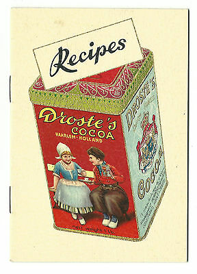 Old Advertising Cookbook Recipes Droste's Cocoa Haarlem Holland
