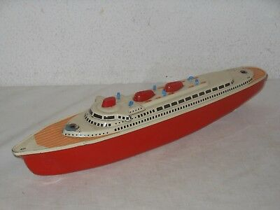 VINTAGE TINTOY MS MICHAEL SEIDEL GROSSER OZEAN DAMPFER BOOT SCHIFF 42cm GERMANY2