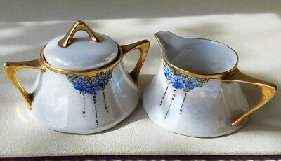 Art Nouveau Z.S & Co. Bavaria, German Porcelain Cream & Sugar Set