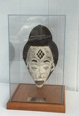 Antique M'PONGWE TRIBE WOMANS MASK GABON AFRICA AFRICAN CONGO IN CASE