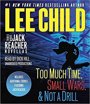 Lee Child (Jack Reacher TOO MUCH TIME, SMALL WARS, NOT A DRILL CD *FAST 1st Ship