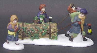 Department 56 DICKENS VILLAGE Set Of 3 Bringing Home The Yule Logs 64218