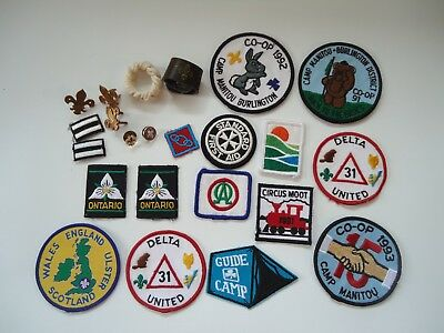 Boy scouts of Canada patches badges pins scarf woggles lot Venturers Rovers UK