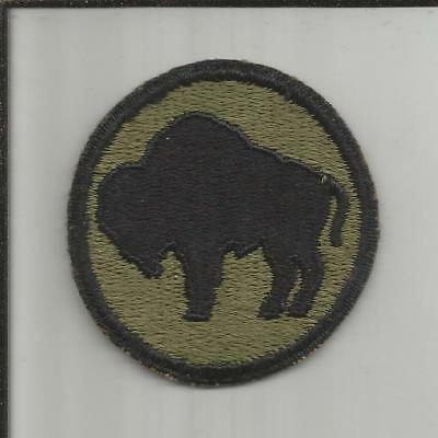 WW 2 US Army 92nd Infantry Division Greenback Patch Inv# X072