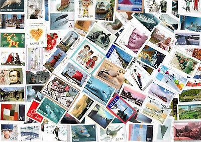 A LOVELY MIX OF MOSTLY RECENT COMMEMORATIVE STAMPS FROM NORWAY inc HVs
