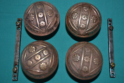 Two Sets Of Fancy Brass Door Knobs Beautiful East Lake, Vintage Victorian