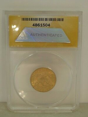 1900 Liberty Head $5 Gold Half Eagle Anacs Ms 62 Coin